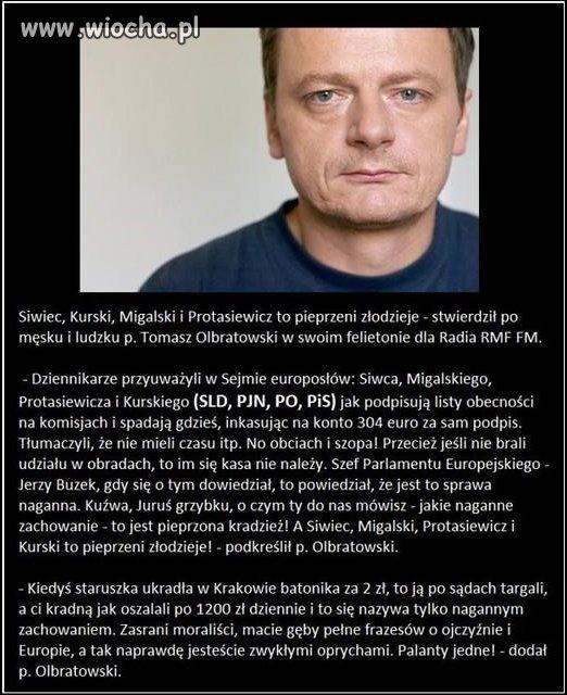 Prawda Olbratowskiego na temat europos��w,