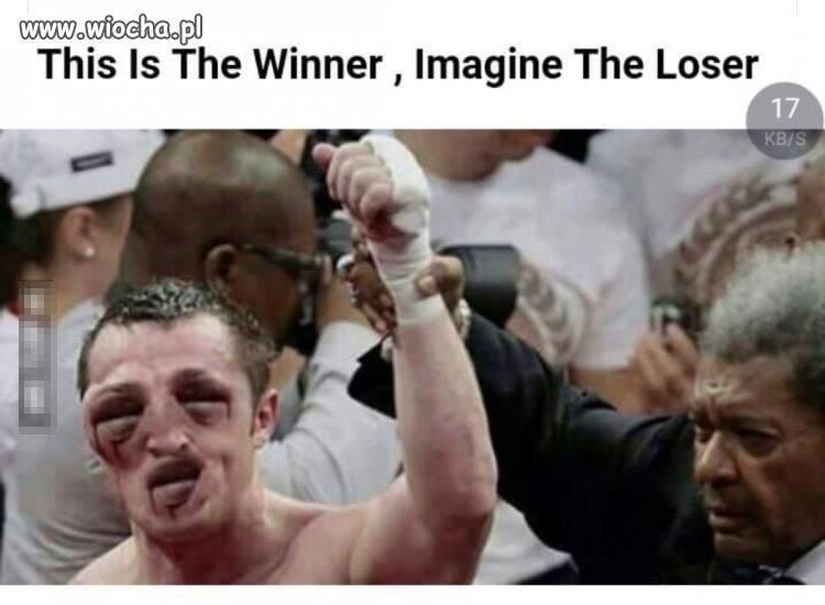 Jak wygląda przegrany?