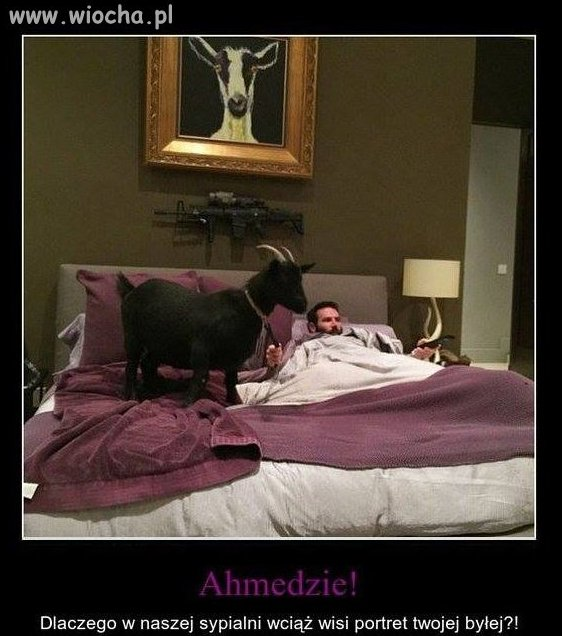 Ahmed w sypialni