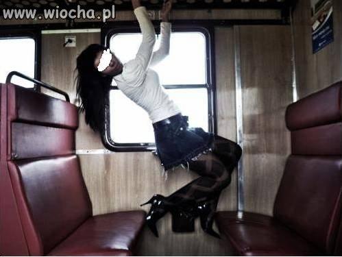 Lans w pociągu