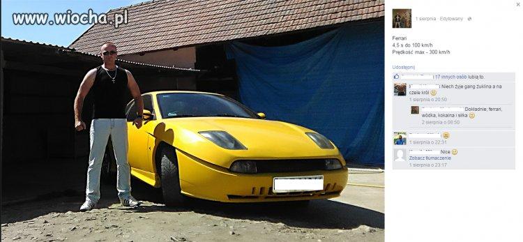 Fiat Coupe- Ferrari dla młodego gangstera ze wsi