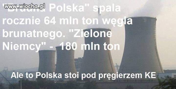 Niemcy spalaj� ponad 2 razy wi�cej w�gla ni� Polska