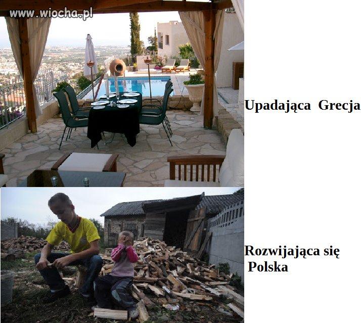 Upadająca Grecja ruszyła unijne klocki domino