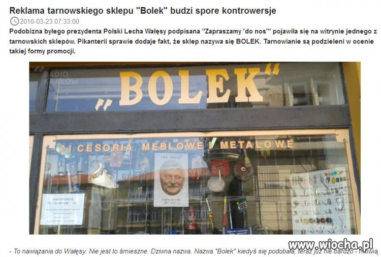 "Reklama sklepu ""Bolek"""