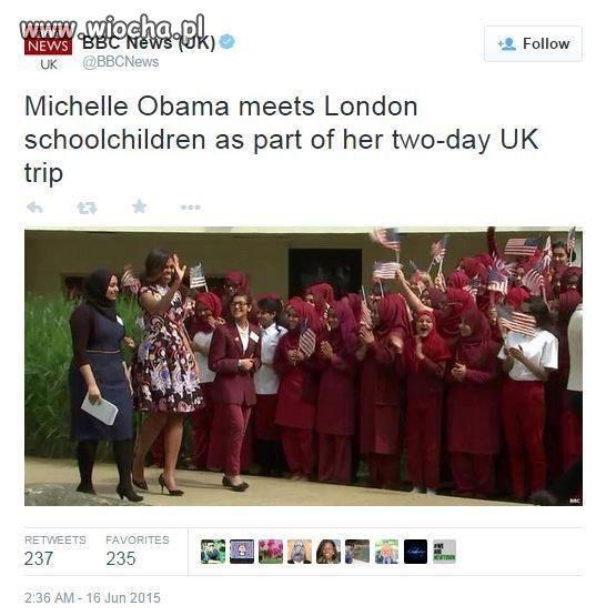 Michelle Obama i młodzież Brytyjska