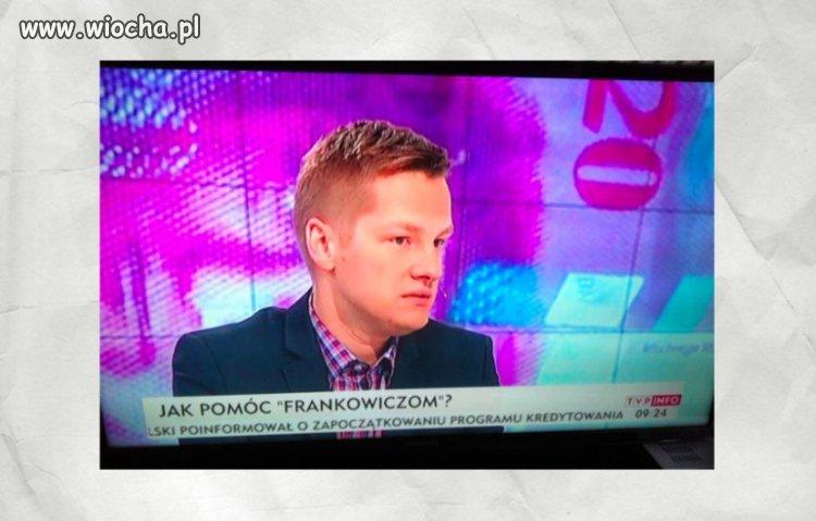 Mroczek ekspertem od franka w tvp info