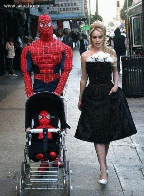 Rodzinka SPIDERMAN w komplecie