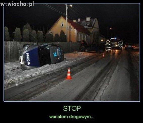 Stop wariatom drogowym