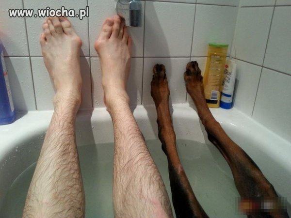 Kąpiel z psem