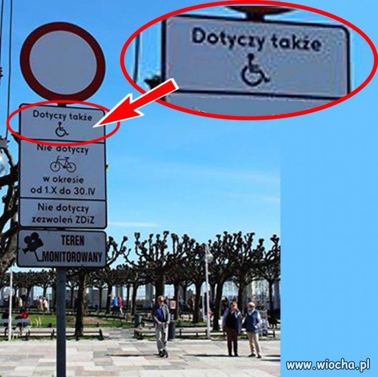 Sopot - deptak nie dla niepełnosprawnych