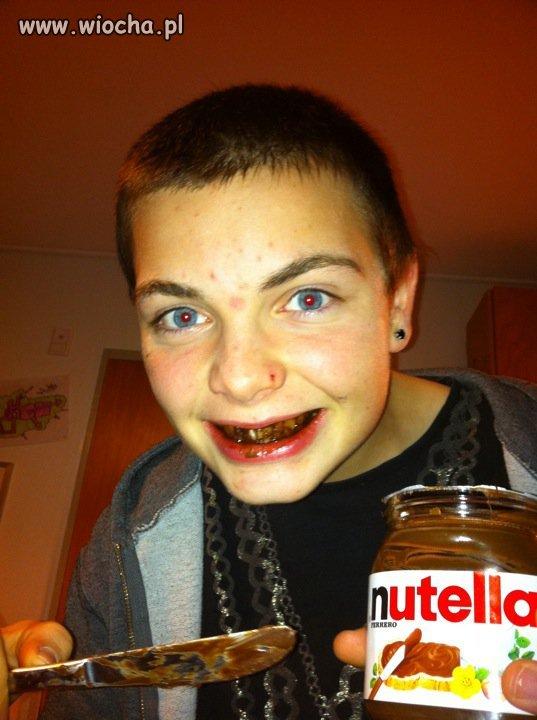 Nutella, jest, trądzik, jest.