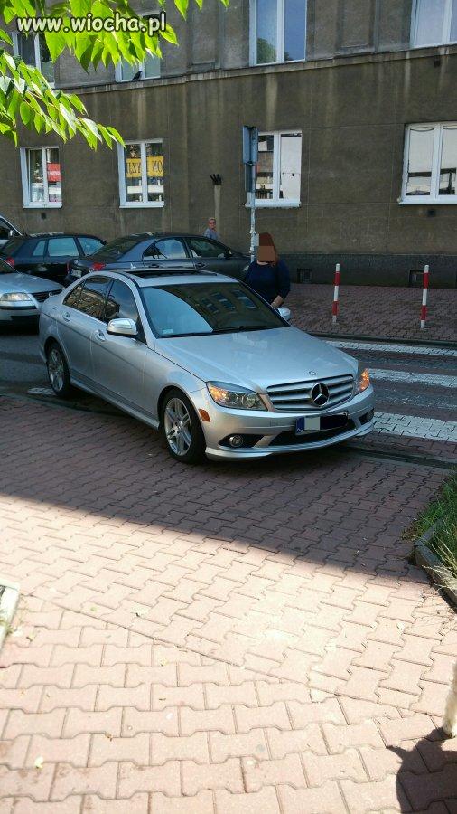 """Parkowanie-pasy: wzór """"warszawianka"""""""