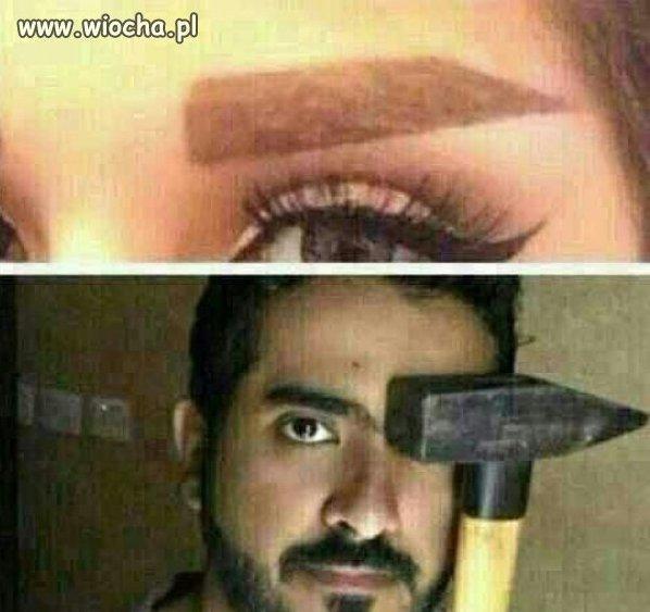 Hardkorowy makijaż...