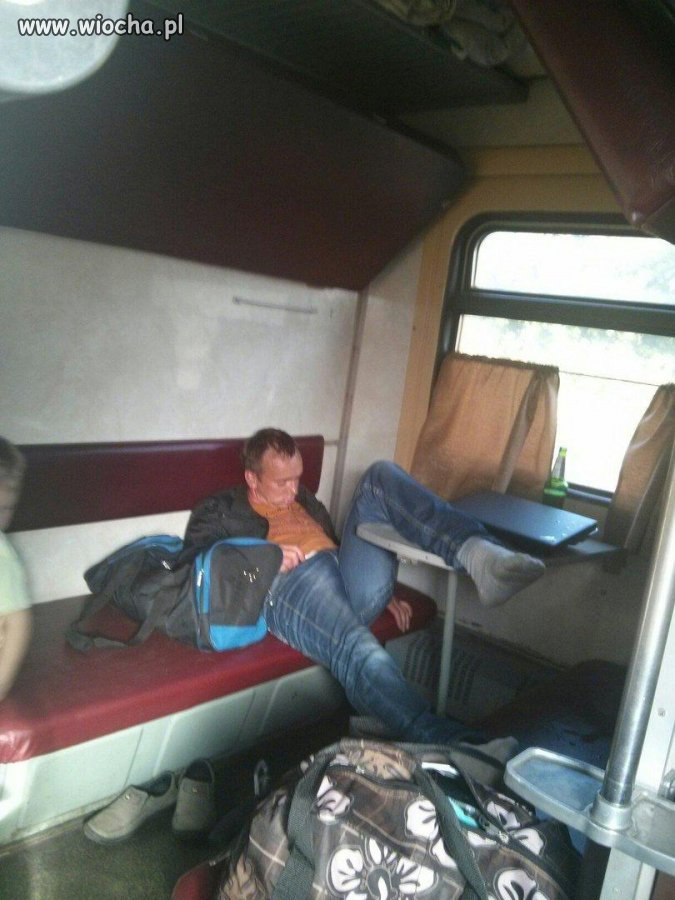 Wagon sypialny z choinką zapachową