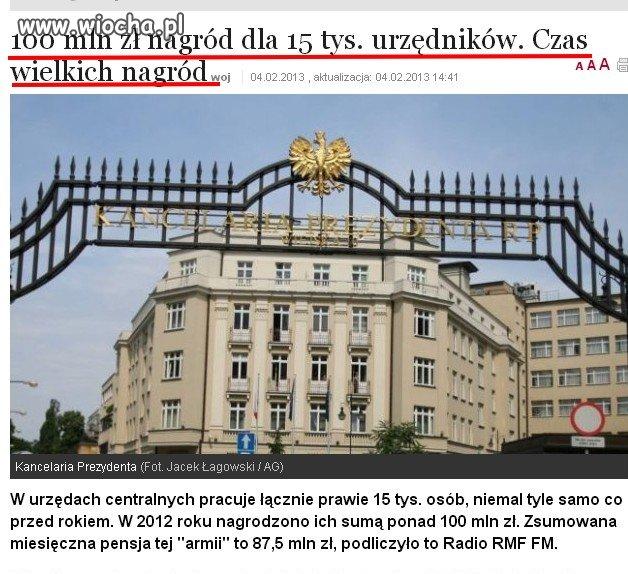 100 milionów złotych nagród dla ziomków Donka...