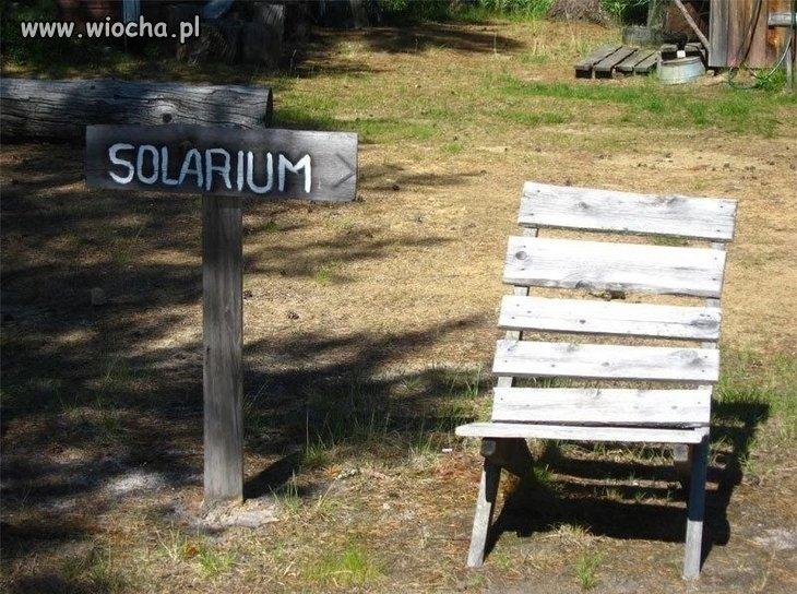 Wiejskie solarium