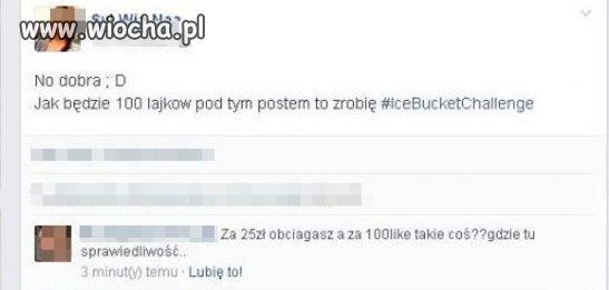 """IceBucketChallenge"" za 100 lajków"
