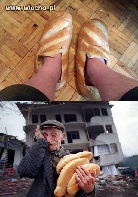 Totalną wiochą jest marnowanie chleba..