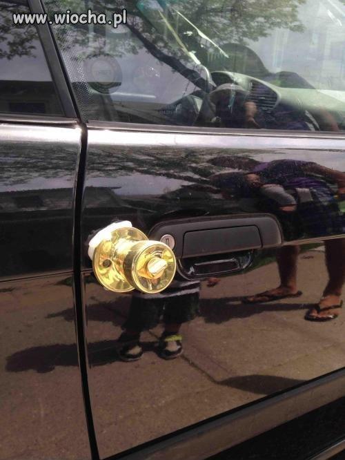 Lans na złote klamki