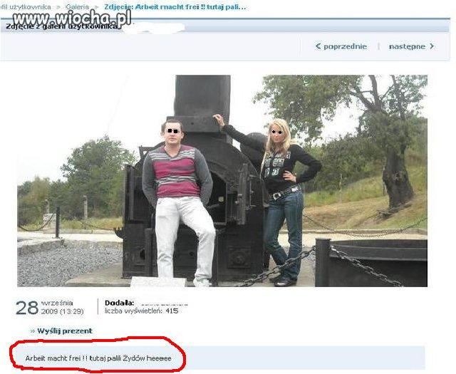 Pamiątka z Auschwitz z opisem!!!