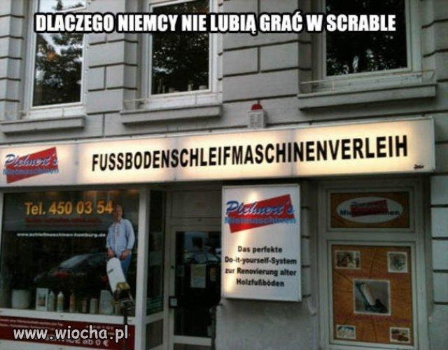 Dlaczego Niemcy nie lubią scrable