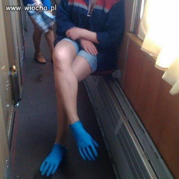 A w pociągu taka sytuacja...