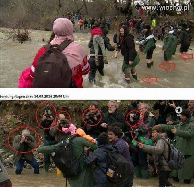"""""""dramatyczna"""" droga uchodźców"""