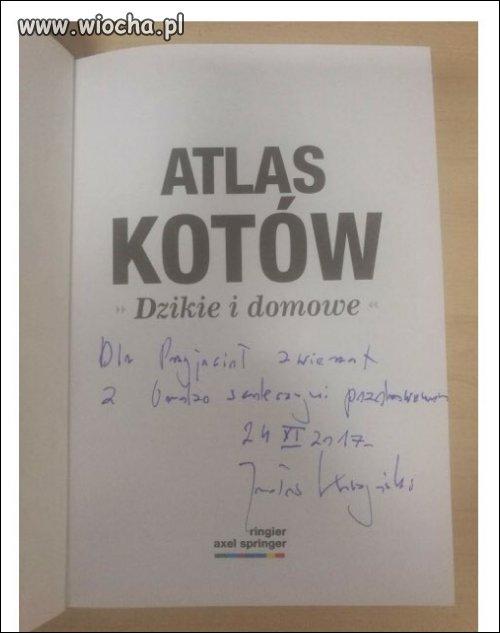 Atlas Kotów na aukcji-podarunek od prezesa