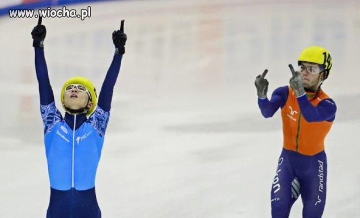 Sportowe zachowanie Holendra.