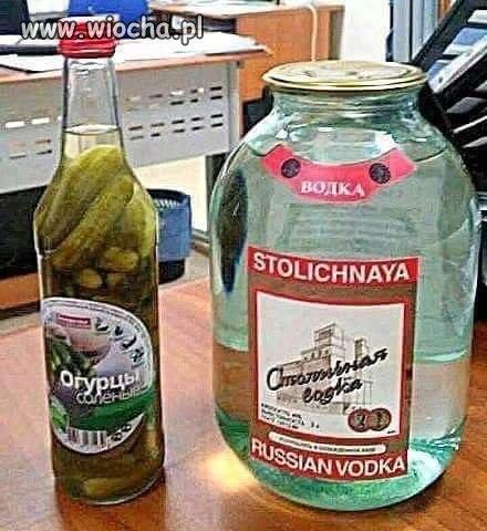 Wódka i zagryska po rosyjsku
