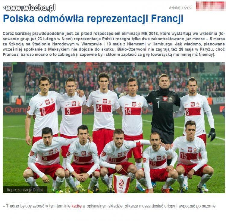 Polska już z byle kim nie chce grać