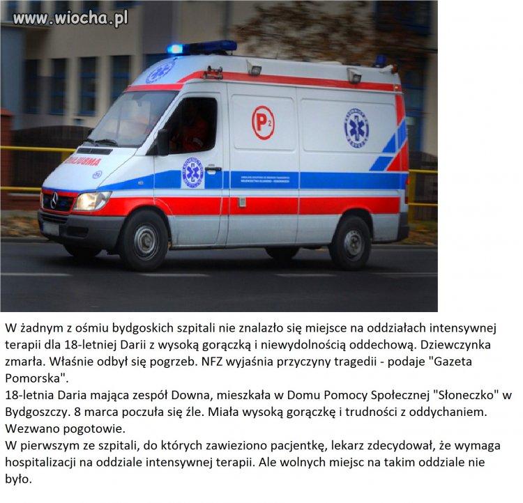 Bydgoszcz: zabrak�o miejsc w o�miu szpitalach.