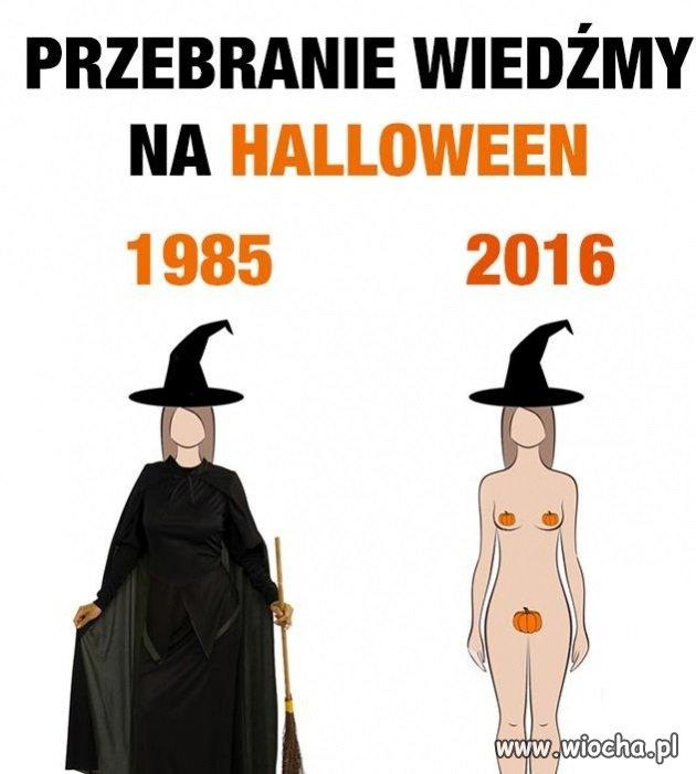 Przebranie wiedźmy na Halloween