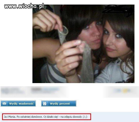 Dziewczyny chwalą się zużytymi (?)prezerwatywami...