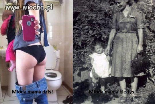 Młoda mama 2017 vs 1945