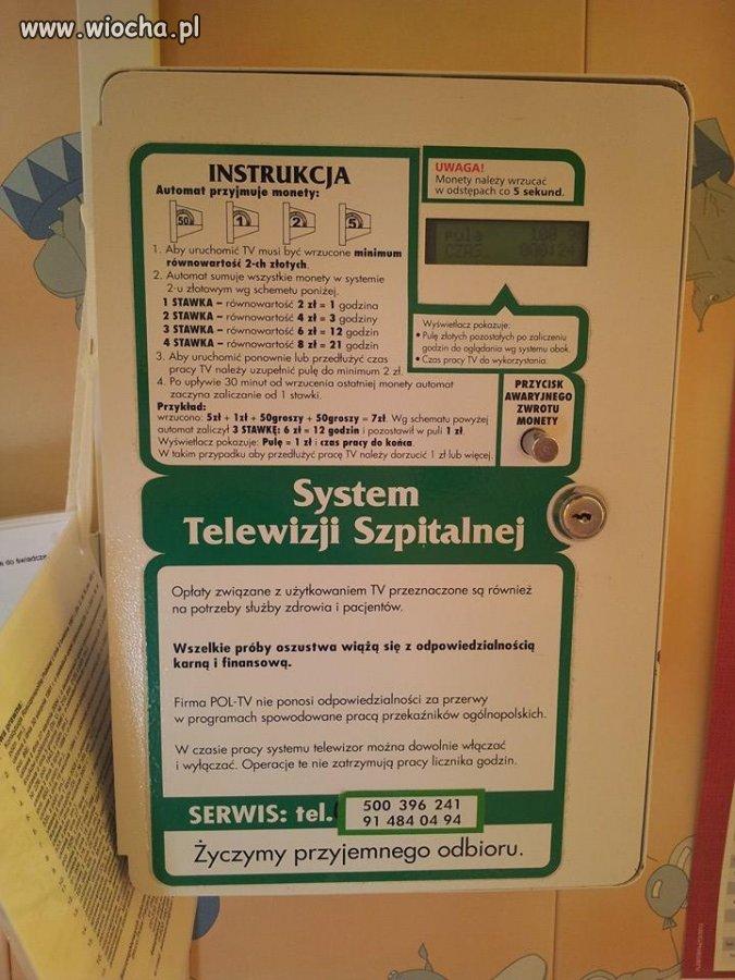 W więzięniu Tv darmowa, a na pediatrii bulić trza.
