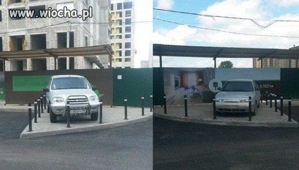 Informowali żeby  nie parkować na parkingu...