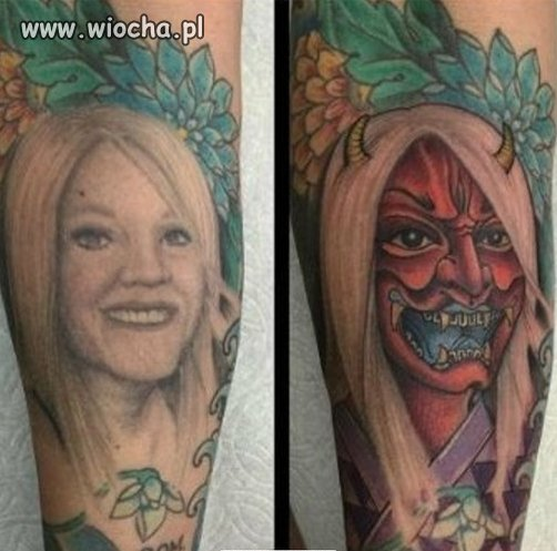 Tatuaż byłej.