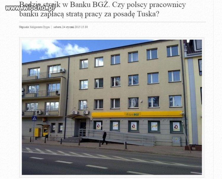 Tusk sprzedał bank za posadkę szefa Rady