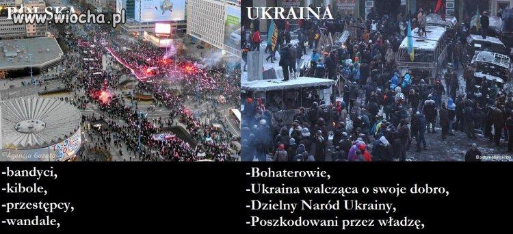 Dwa państwa, jedni protestują bo chcą do Unii,