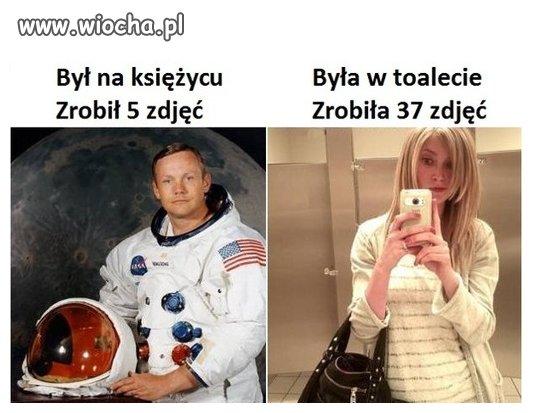 Zawstydziła astronautę
