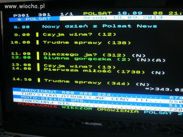No i jak tutaj oglądać Polsat...