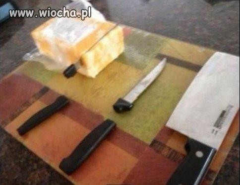 Polski ser vs chińskie noże