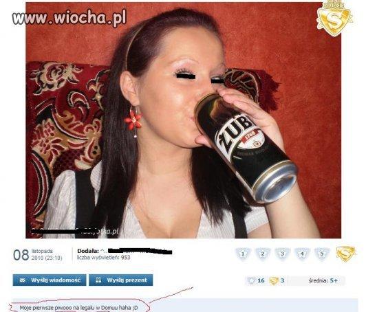 Dorosłość ma swoje plusy można napić się legalnie na NK