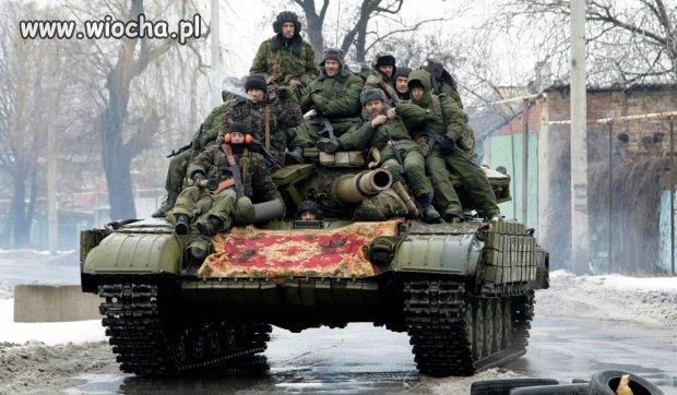 Dywan na kacapskim czołgu