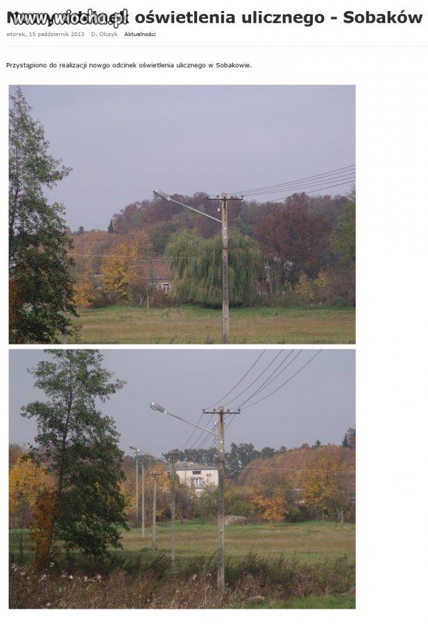 Oświetlenie na polu