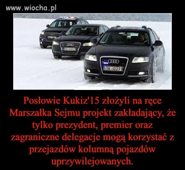 Pojazdy te nie będą mogły też być używane
