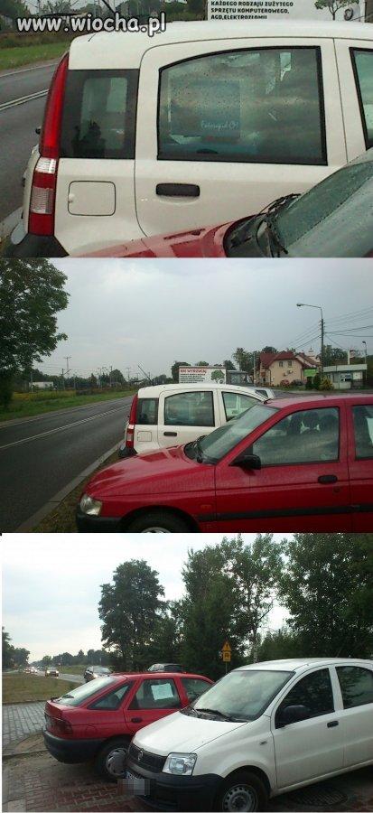 Ustawienie fotoradaru w samochodzie.
