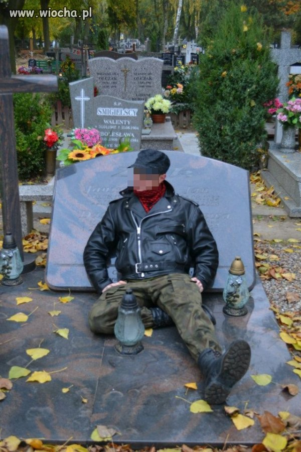 S�it focia na cmentarzu...