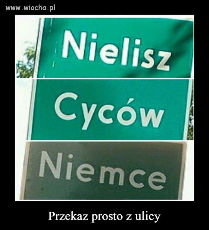 """Jasny przekaz dla """"prawdziwych Polaków""""."""
